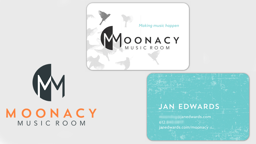 Moonacy Music Room branding